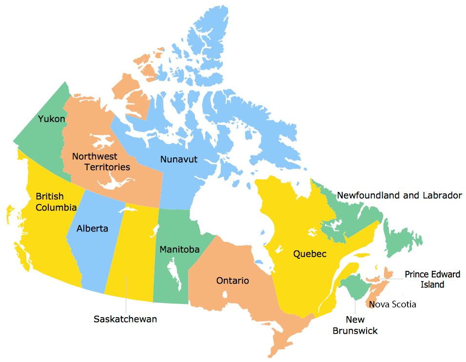 استان های کانادا